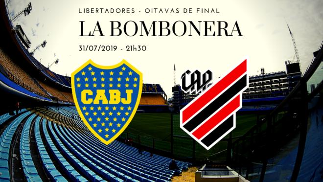 Athletico busca classificação histórica no estádio do Boca Juniors