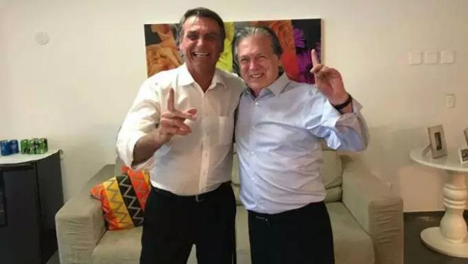 Jair Bolsonaro e Luciano Bivar, presidente do PSL,