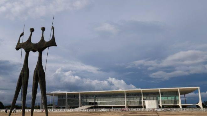 O Palácio do Planalto, em Brasília.
