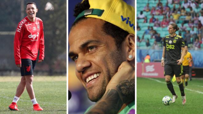 Adriano, o Athletico, Daniel Alves, no São Paulo e Filipe Luís, no Flamengo: bons investimentos?