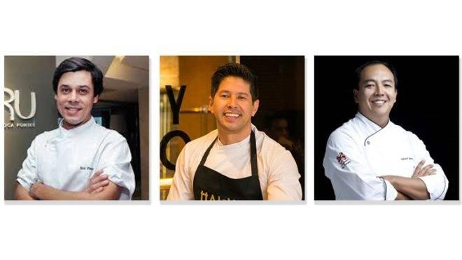 Joca Pontes, Kazuo Harada e André Saburó cozinham juntos por duas noites no Hai Yo. Cardápio criado e executado a seis mãos, para poucos.