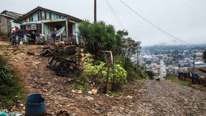Cruz Machado, uma das cidades mais pobres do Paraná.