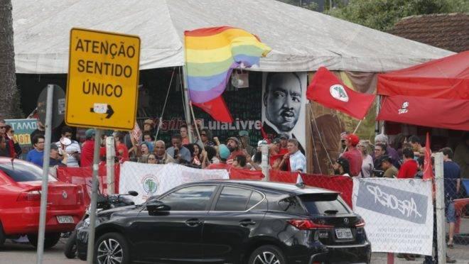 Vigília Lula Livre na tarde desta quarta-feira (7)