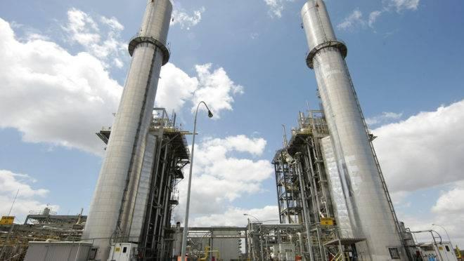 Usina Elétrica a Gás de Araucária, no Paraná.