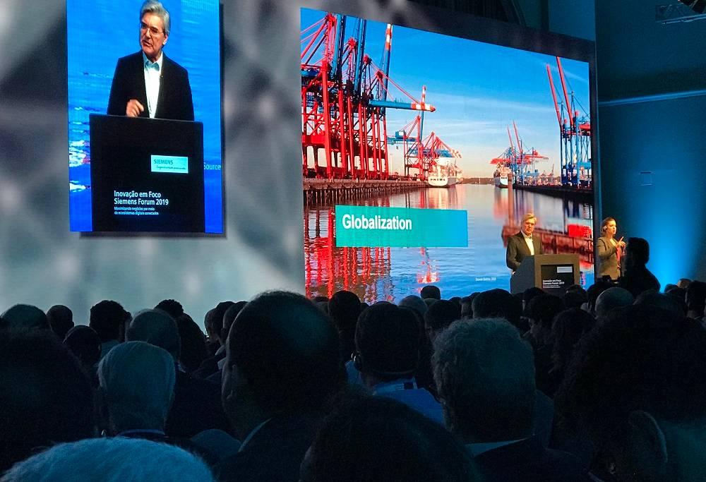 CEO mundial da multinacional alemã Siemens, Joe Kaeser, fala sobre planos da empresa no Brasil.