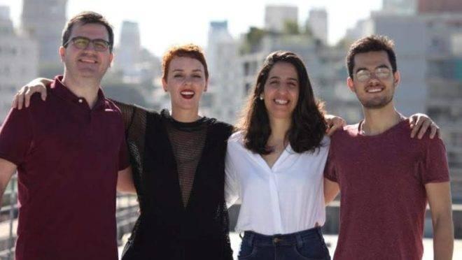 Guilherme Décourt, Mariana Marcílio, Karen Kanaan e Guilherme Caixeta Filho, a equipe da unidade paulista da École 42. Foto: Divulgação Foto: