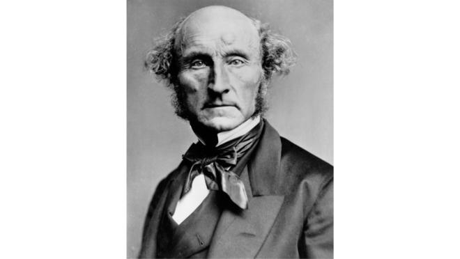 Retrato de John Stuart Mill.