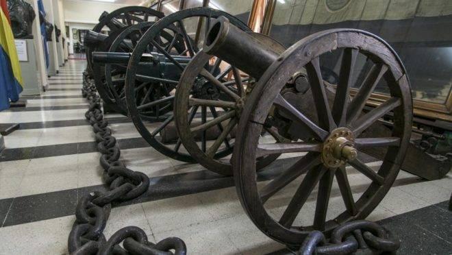 Canhão usado na Guerra do Paraguai.
