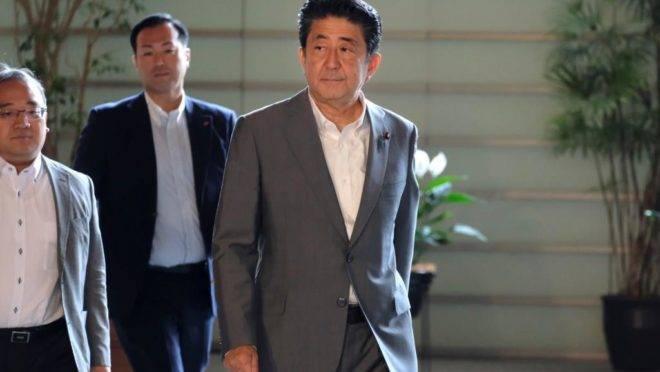 O primeiro-ministro do Japão, Shinzo Abe