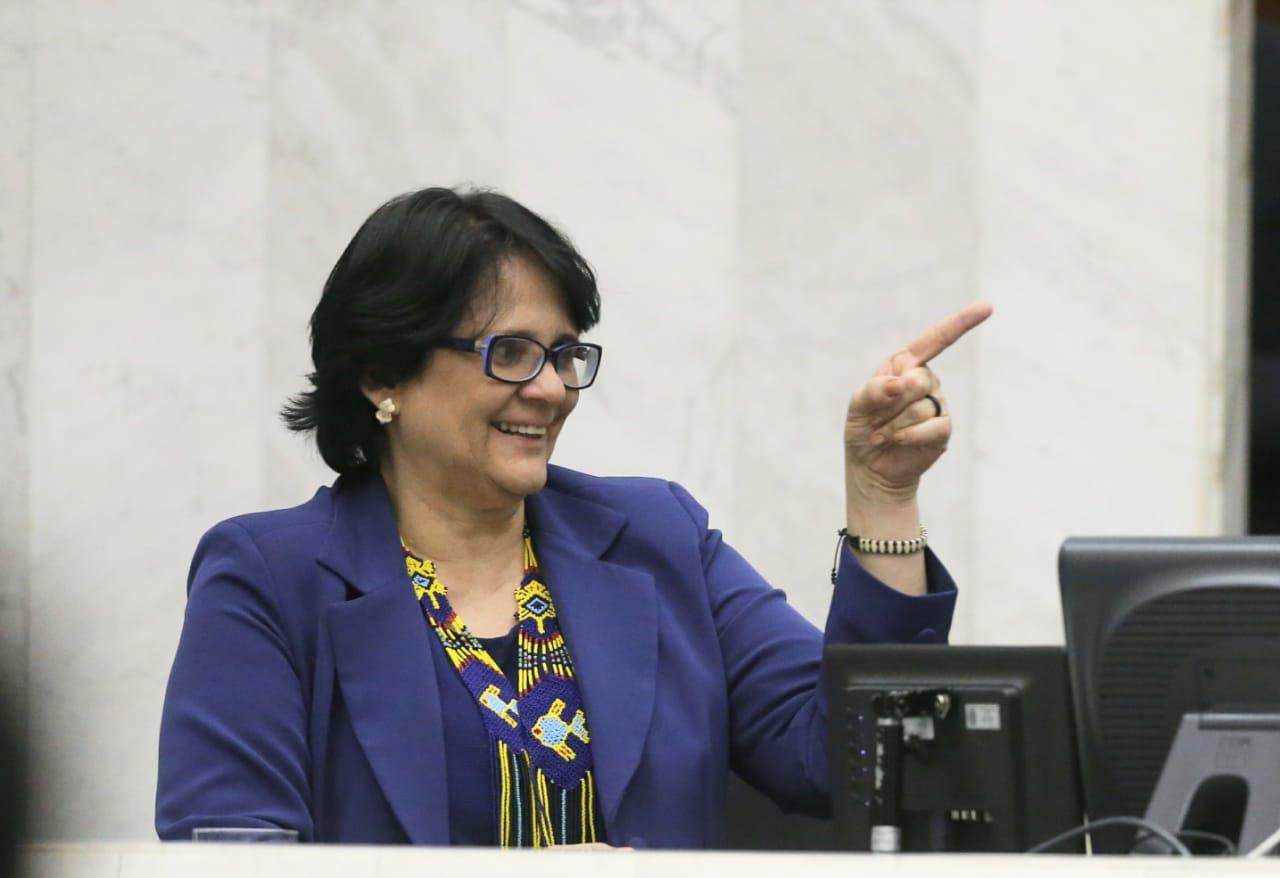 A ministra da Mulher, da Família e dos Direitos Humanos, Damares Alves.