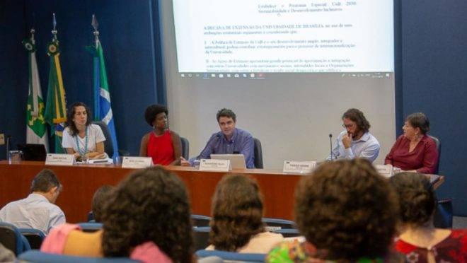 Lançamento do programa UnB 2030, que terá como foco a interdisciplinaridade em prol do desenvolvimento inclusivo e sustentável. | Raquel Aviani/Secom UnB
