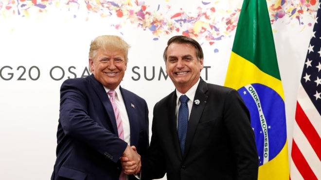 Trump e Bolsonaro se encontram em reunião do G20, que ocorreu em junho na cidade de Osaka, no Japão