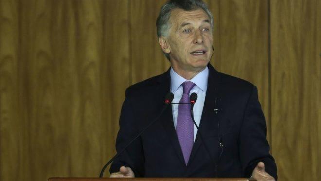 O pronunciamento de Macri foi feito na manhã desta quarta-feira