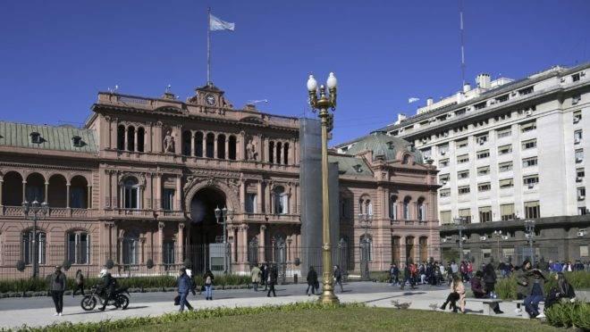 Casa Rosada, o palácio presidencial e a sede do Ministério da Economia da Argentina, em Buenos Aires, 14 de agosto de 2019