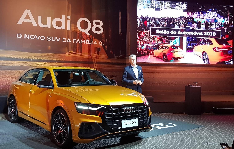 Johannes Roscheck, presidente e CEO da Audi do Brasil, durante a apresentação do SUV. Foto: Renyere Trovão/ Gazeta do Povo