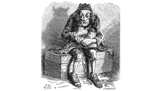 """Mammon. Ilustração do """"Dictionnaire infernal"""", par Louis Le Breton."""