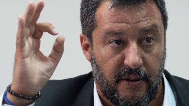 Ministro do Interior da Itália e vice-primeiro ministro, Matteo Salvini