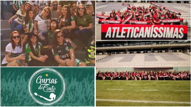 Athletico e Coritiba: movimentos femininos ocupam estádios