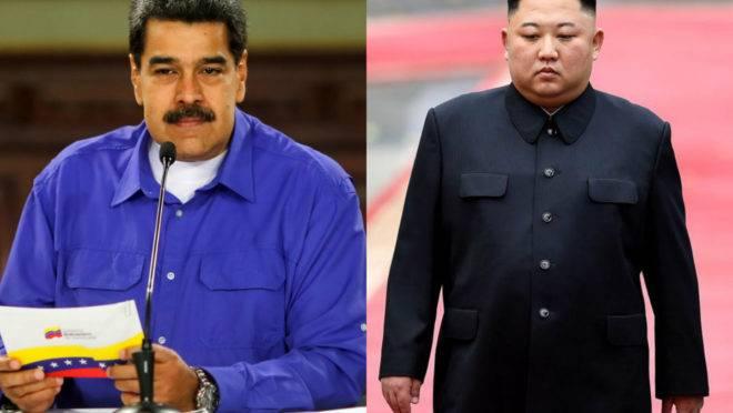 Ditador da Venezuela, Nicolás Maduro, e ditadr da Coreia do Norte, Kim Jong-un