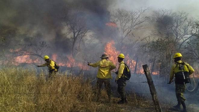 Incêndio na Bolívia