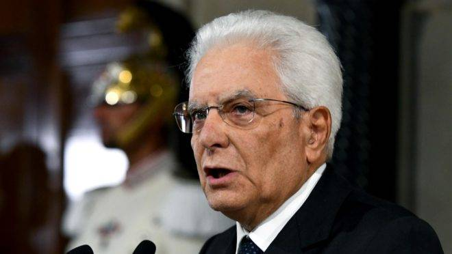 O presidente da Itália, Sergio Mattarella