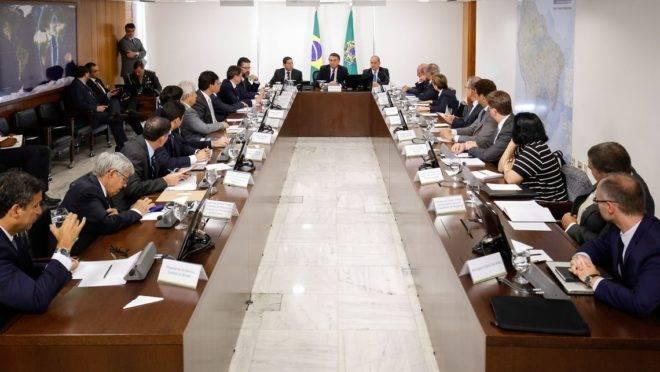 Reunião ministerial do presidente Jair Bolsonaro