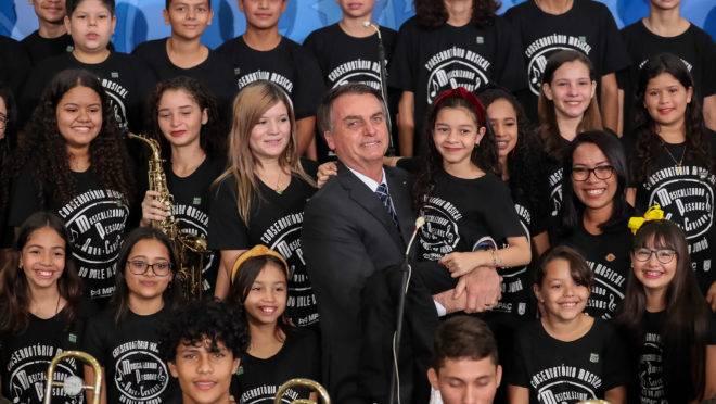 (Brasília - DF, 20/08/2019) Apresentação das Crianças do Conservatório Musical do Vale do Juruá. rFoto: Marcos Corrêa/PR