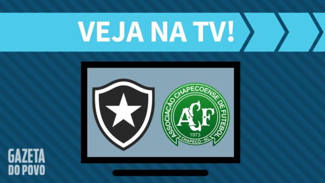 Botafogo x Chapecoense: veja na TV