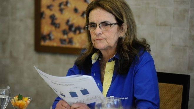 A ex-presidente da Petrobras, Graças Foster.