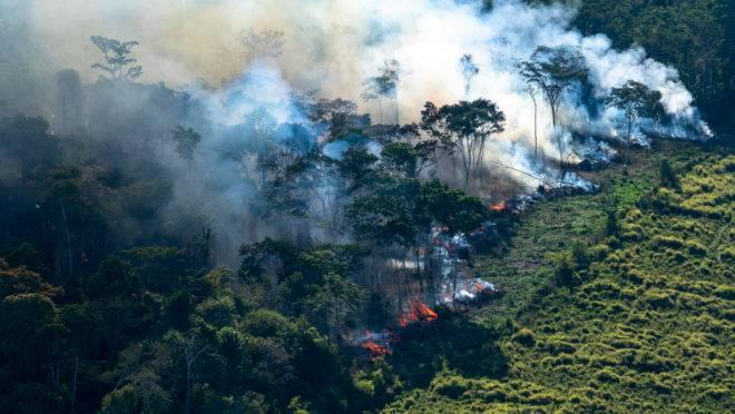 Incêndio no Estado de Rondônia.