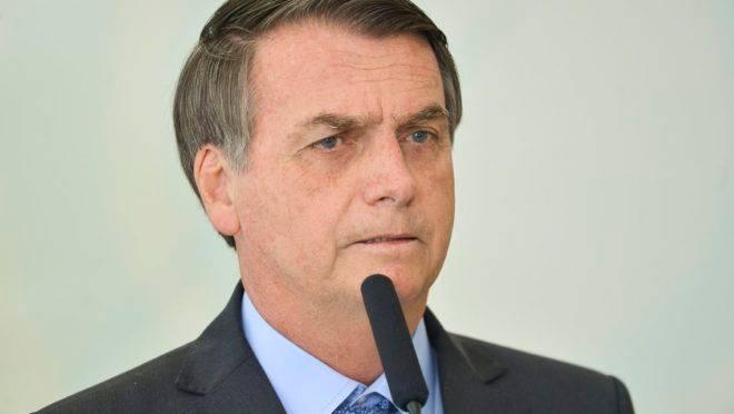 O presidente Jair Bolsonaro durante solenidade de Celebração do Dia Internacional da Juventude, no Palácio do Planalto.