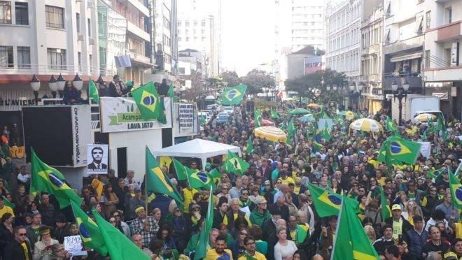 Manifestação de apoio à Lava Jato em Curitiba
