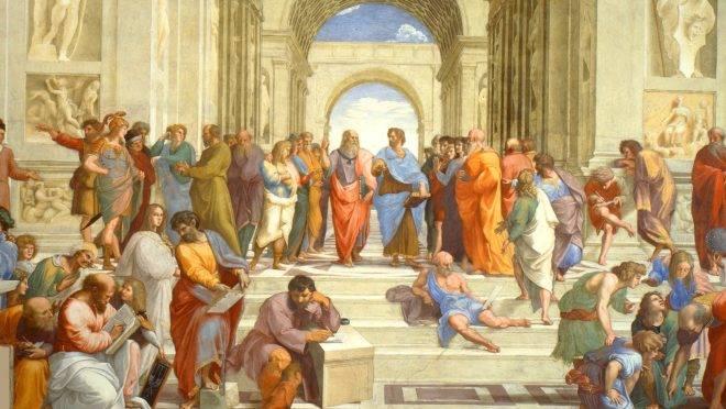 A Escola de Atenas, de Rafael Sanzio.