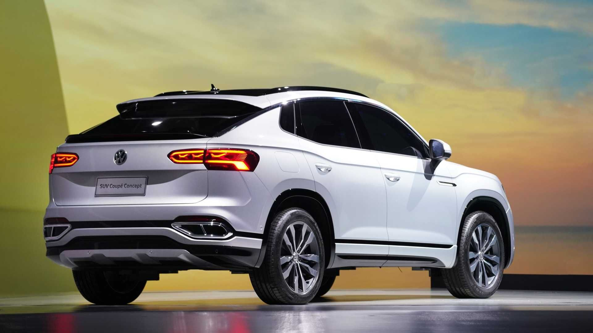 O SUV Coupé Concept apresentado no Salão de Xangai 2019 e que parece servir de inspiração para o T-Sport. Foto: Divulgação
