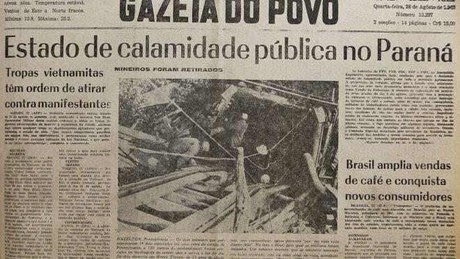 Incêndio registrado na Gazeta do Povo