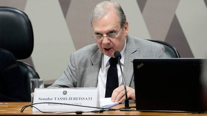Tasso Jereissati: dia da votação da reforma da Previdência na CCJ do Senado