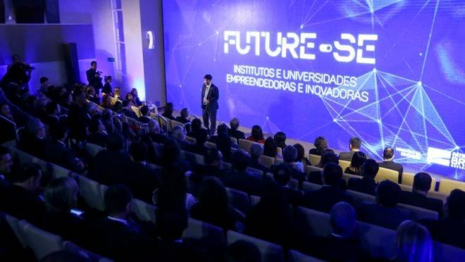 """O ministro da Educação, Abraham Weintraub, e o secretário de Educação Superior do MEC, Arnaldo Lima, apresentam o programa """"Future-se""""."""