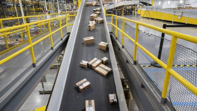 Centro de distribuição da Amazon