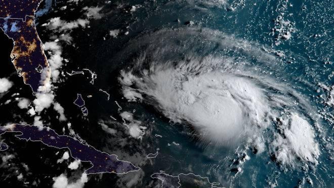furacão dorian satélite