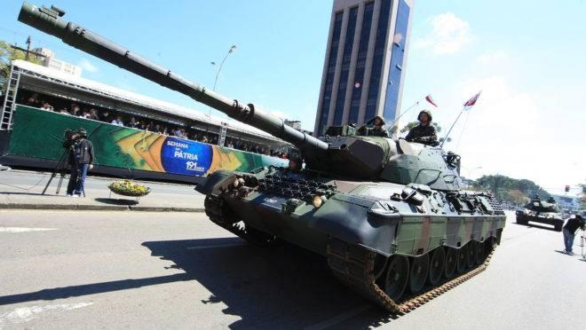 Canhão Leopard é uma das atrações confirmadas para o desfile de sete de setembro deste ano.