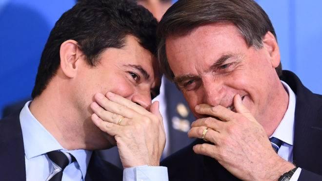Bolsonaro e Moro se encontraram nesta quarta-feira (9)