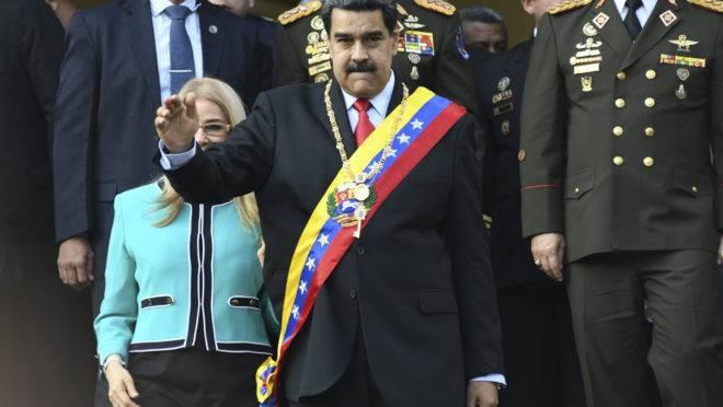 O ditador Nicolás Maduro em Caracas, Venezuela, 7 de agosto de 2019