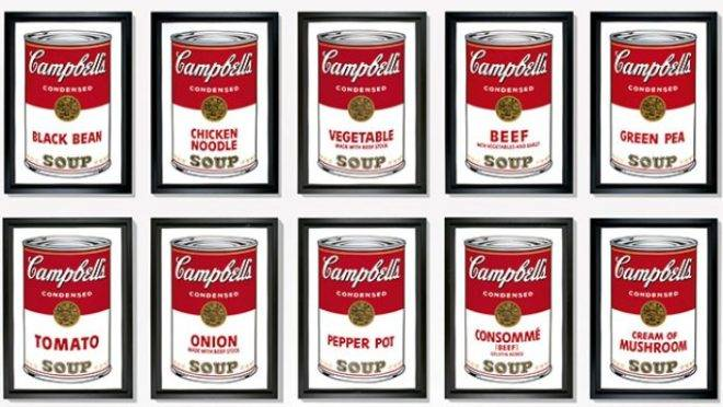 """Andy Warhol. """"Campbell's Soup Cans"""", 1962."""