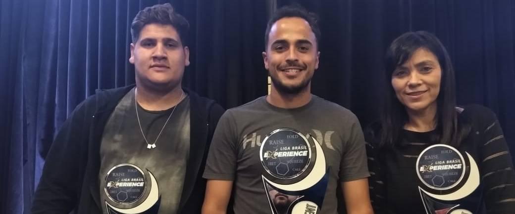 Os três primeiros colocados. Foto: Divulgação/BPC