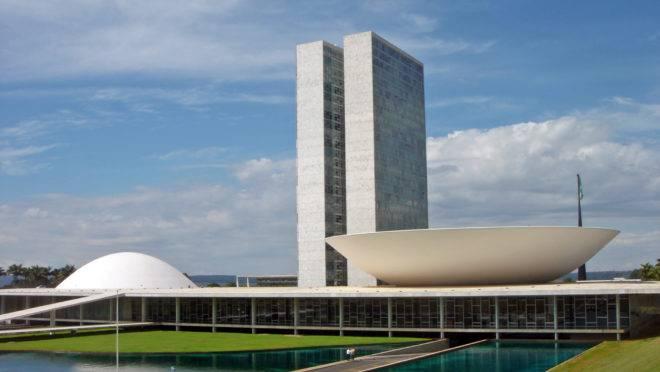 imagem mostra o Congresso nacional, em Brasília
