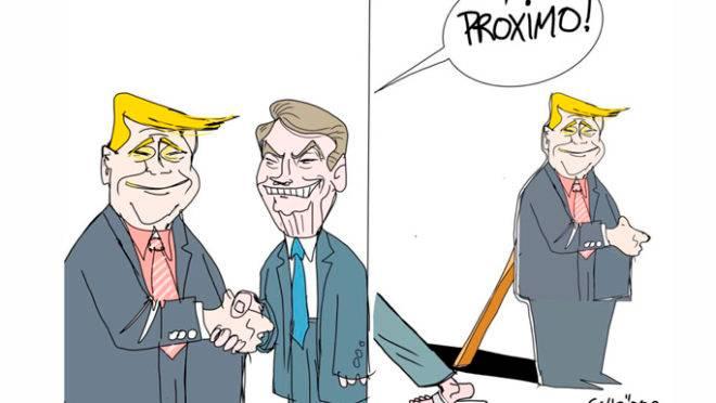 Quadrinhos e Charges de Bolsonaro, Trump e Moro