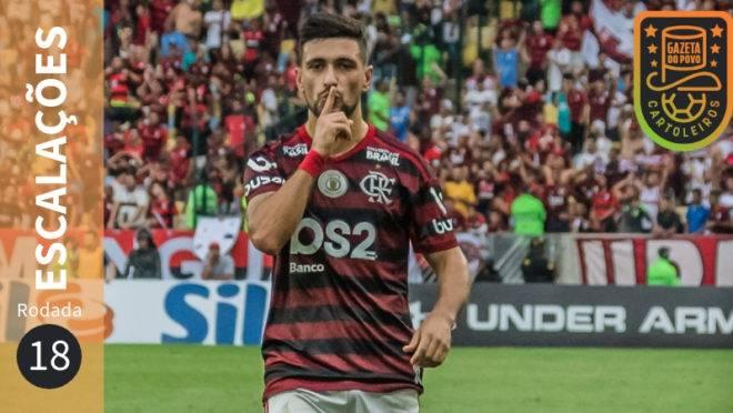Prováveis escalações da 18.ª rodada do Cartola FC 2019.