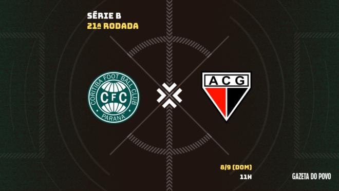 Coritiba x Atlético-GO: informações, ingressos, escalações e arbitragem.