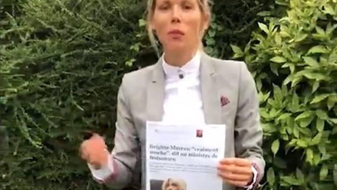 A filha de Brigitte Macron, Tiphaine Auzière, gravou um vídeo para lançar uma campanha contra a misoginia.