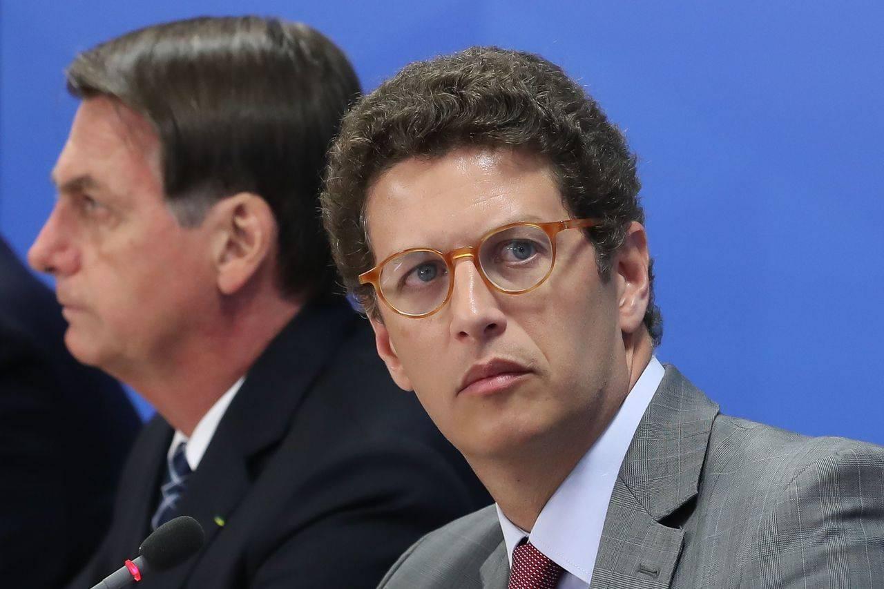 O ministro do Meio Ambiente, Ricardo Salles: suspeita de enriquecimento ilícito leva à quebra de sigilo bancário.